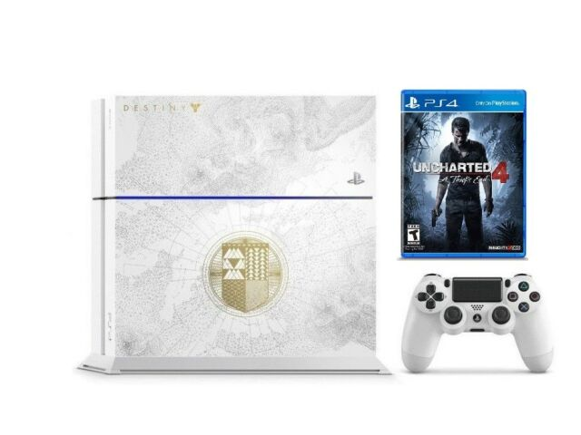 Sony PlayStation 4 Destiny White PS4 500GB UNCHARTED 4: A Thief's End Bundle