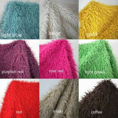 Mongolian Curly Sheep Faux Fur Fabric Photography Props Pillowcase By Metre