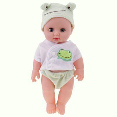 Puppen & Zubehör Expressive Babypuppe Spielpuppe 30 Cm Blaue Schlafaugen 1148 Lustrous