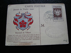 FRANCE-carte-1er-jour-9-12-1944-journee-du-timbre-cy54-french-R