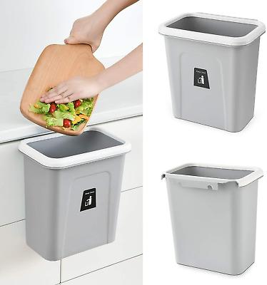 Under Sink Garbage Waste Bin, Trash Can For Kitchen Cabinet Door Wastebasket