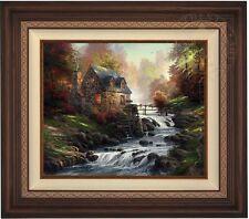 "Thomas Kinkade COBBLESTONE MILL  20"" x 24"" LE G/P Canvas (Walnutl Frame)"