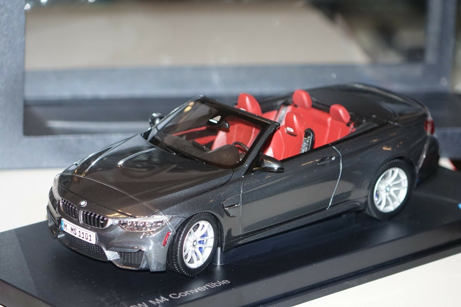 Bmw m4 cabrio f83 gris metalizado Paragon bmw 80432339610 1 18 nuevo & OVP
