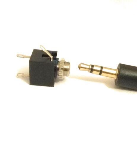 3.5 mm femelle connecteur AUDIO 3 broches DIP Headphone Jack Socket PJ-301M 10 pieces