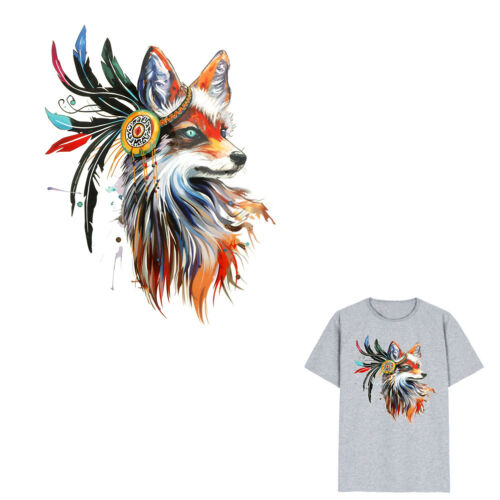 1pc fox Iron on Stickers Washable Heat Transfer Patches For T-shirt Applique  G4