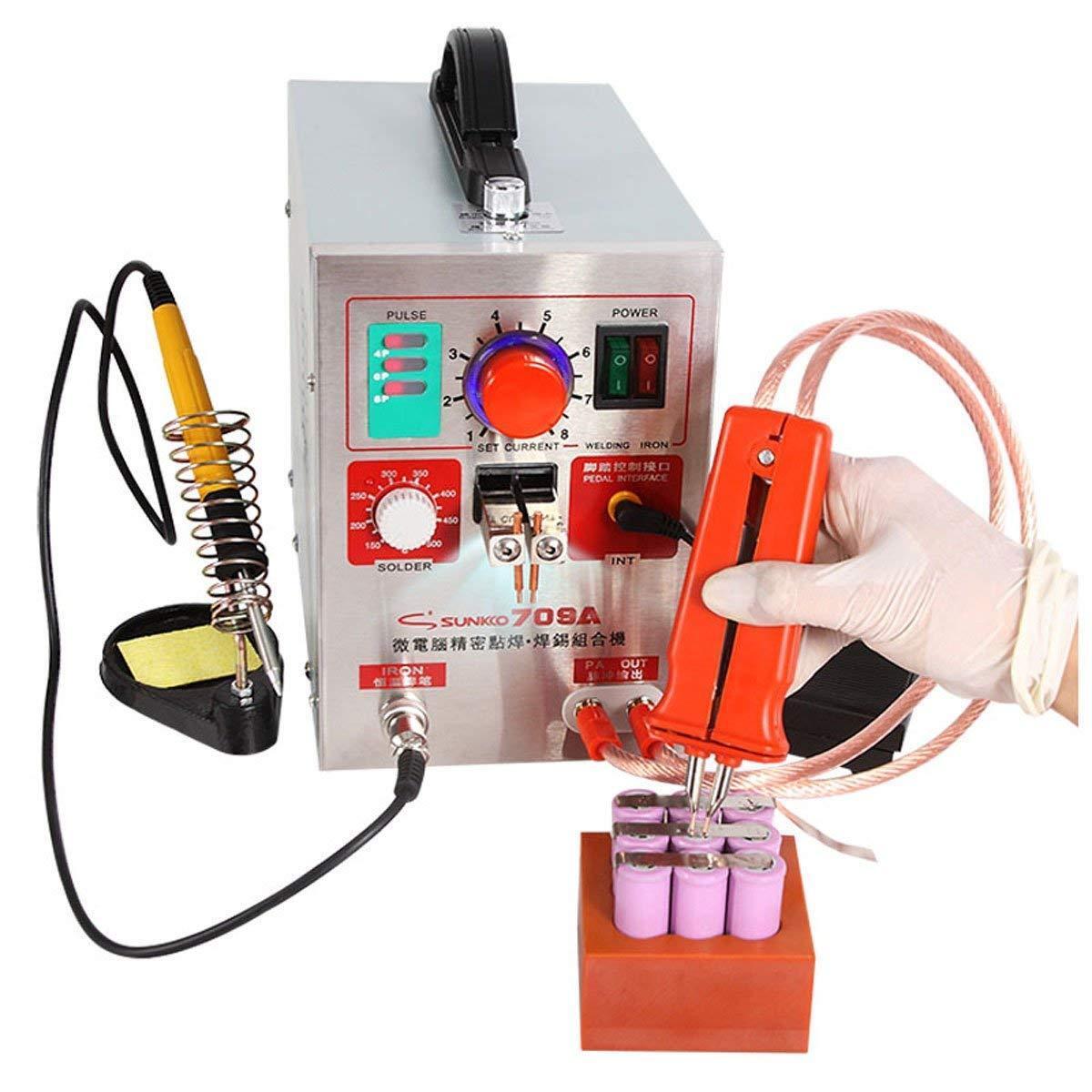 Punktschweißgerät 2 in 1 709A 1.9kw Spot 60A Welder Battery Punktschweißen