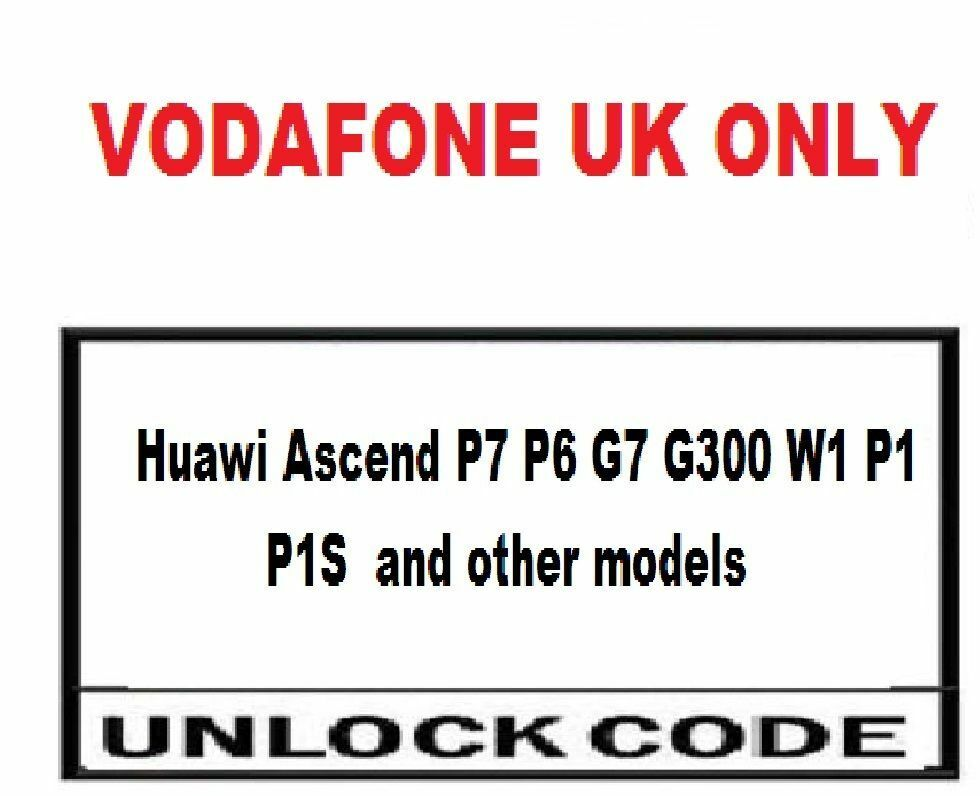Vodafone UK Huawei mobile phone Unlock Codes Vodafone UK only