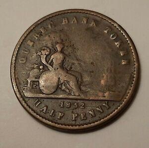 1852-Quebec-Bank-Province-of-Canada-Un-Sou-Half-Penny-Bank-Token