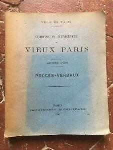 Commission Municipale du VIEUX PARIS 1922 séances Procès-verbaux illustré