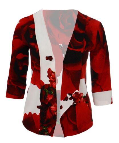 NUOVO 16-26 Nuova Luce Rosa Blazer Giacca Donna Nuova con Etichetta Rosso Bianco ESCLUSIVO *