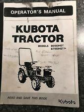 Kubota B7100hst B6100hst Tractor Operators Owners Manual Maintenance 2wd 4wd