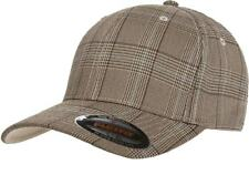 Flexfit® 6196 Fitted Ballcap Blank Cap Blank Golf Glen Check Hat Plaid Flex  Fit 2d63d5b23e8