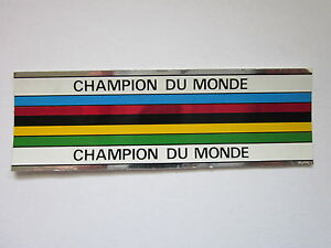 2X NOS CAMPAGNOLO WORLD CHAMPION ITALY FRAME DECAL STICKER
