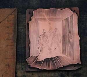 SCHLAGER-Galvano-Druckplatte-Klischee-Eichenberg-printing-plate-copper-printer