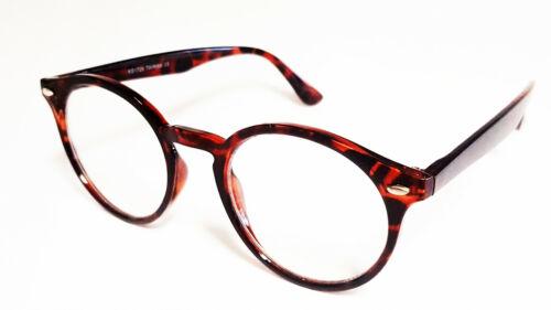 tortoise #808 Nerd Brille rund Oversize Damen und Herren schwarz o