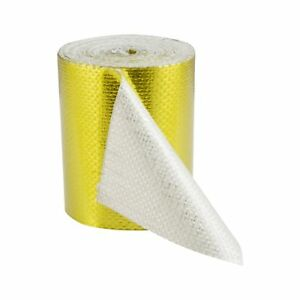 5m-x-50mm-Hitzeschutz-Band-selbstklebend-Gold-Tape-Klebeband-reflektierend-450-C