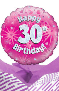 Image Is Loading 30th Birthday Pink Balloon In A Box Gift