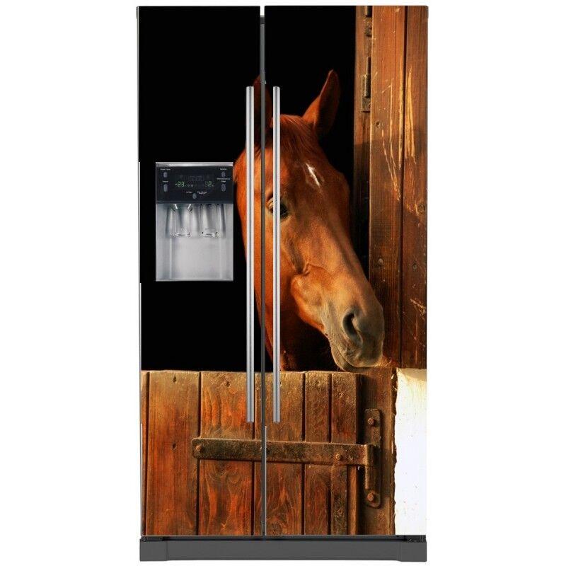 Aufkleber Kühlschrank Amerikanischer Deko Pferd 746