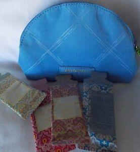b96f42604e78 Vera Bradley Mini Cosmetic bag with lotion samples Preppy Poly Sky ...