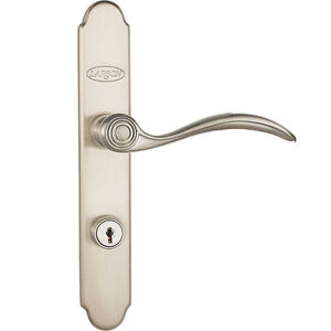 Larson QuickFit Easy Install Brushed Nickel Handleset for Storm Doors Antiques Architectural & Garden Used