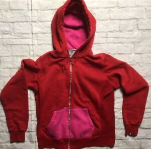 Image is loading Nike-Athletic-Women-s-Hooded-Sweatshirt-Red-Pink- d620675f4e