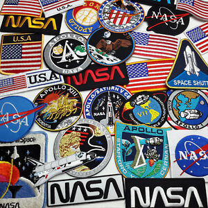 NASA-Crew-Mission-Patches-Apollo-Shuttle-Iron-On-Patch-Series-30-DESIGNS