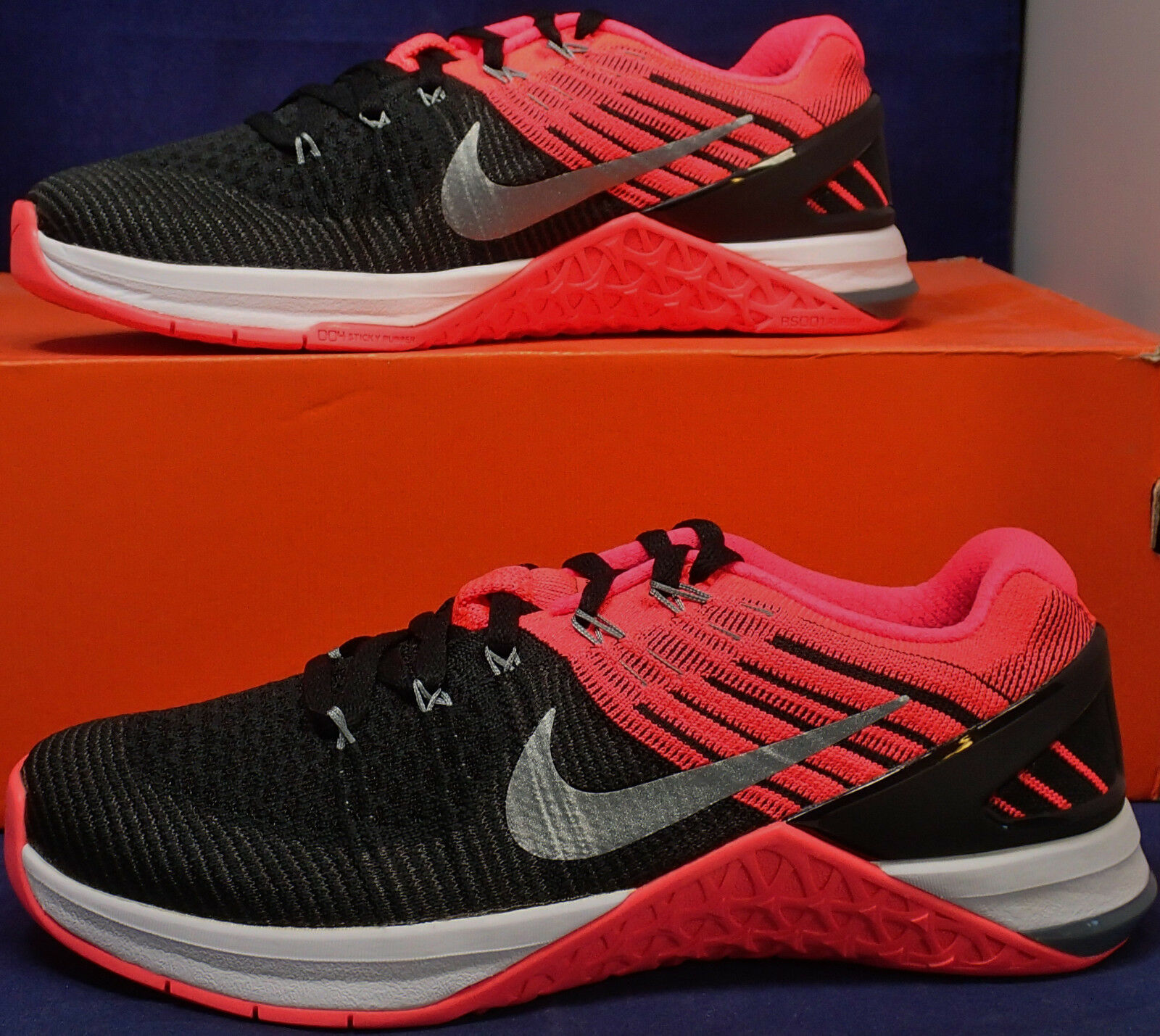 donna Nike Metcon 3 DSX Flyknit nero Hyper Hyper Hyper Punch CrossFit SZ 6.5 (849809-009) 86b1e3