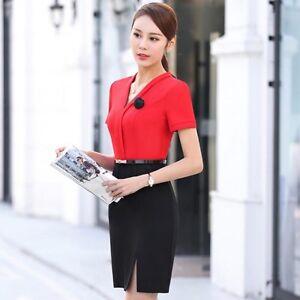 Caricamento dell immagine in corso Elegante-raffinato-vestito-abito-tubino- corto-rosso-nero- 243981bfa8a