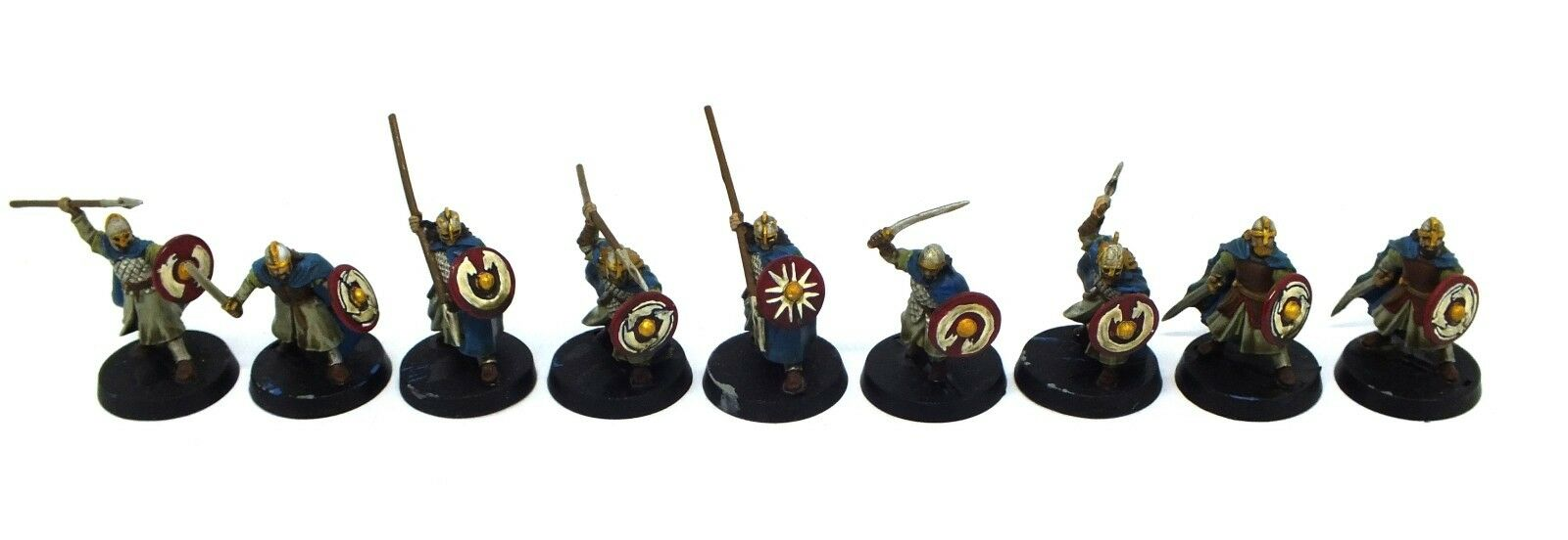 The Lord of the Anneaux - Warriors of Rohan (peint) - 28mm (modèl 1)