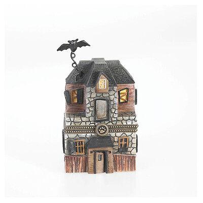 Boyds Bears Halloween Haunted House Treasure Box w/Spidey McNibble ~ 4016650