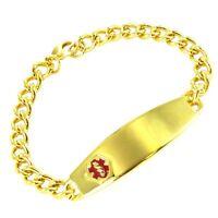 Speidel Stainless Steel Gold Tone Medical Bracelet For Engraving