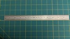 """Mitutoyo 182-125 Steel Ruler 32nds, 64ths, mm, 1//2 mm NOS 12/"""""""