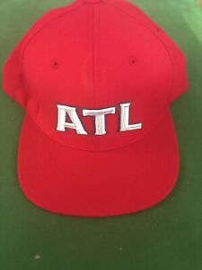 best value 91d1b 0c9e6 Image is loading Mitchell-amp-Ness-Atlanta-Hawks-Logo-Snapback-Hat-