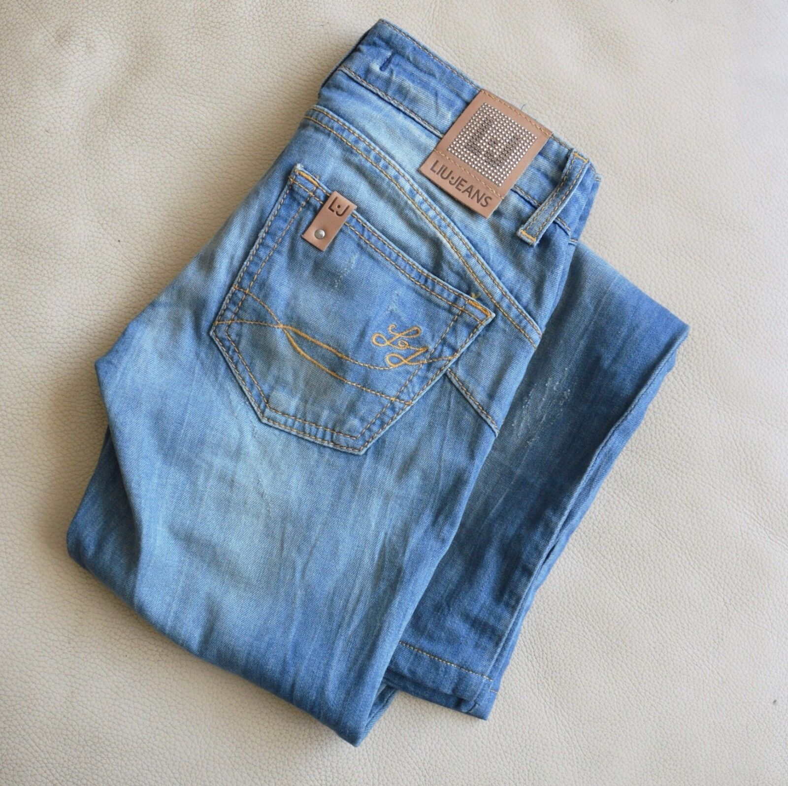 Liu Jo Jeans Straight bluee Denim Washed Women Jeans Low-rise Size 25