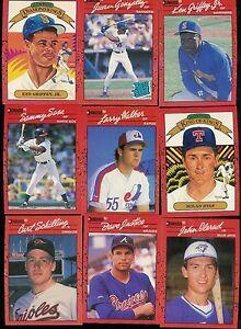 Details About 1990 Donruss Baseball Complete Set 1 716 Puzzle Bonus Cards 1 26
