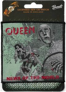 Official-Merch-Woven-Sew-on-PATCH-Rock-Freddie-Mercury-QUEEN-News-of-the-World