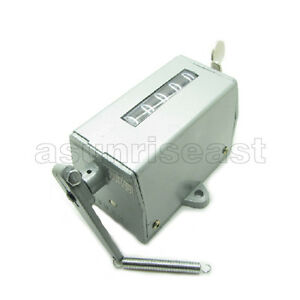 New Metal Housing 5 Digit Resettable Stroke Pull Counter 75-II
