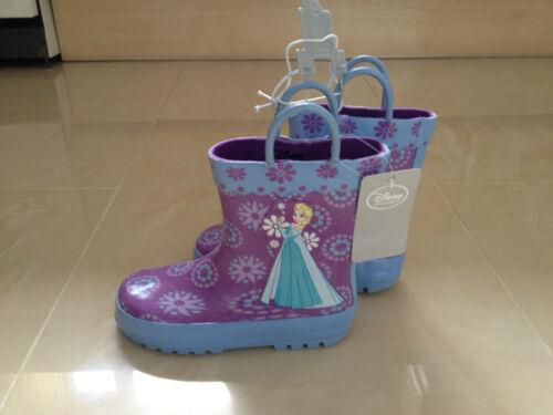 DISNEY Store Exclusive congelati Pioggia Stivali per Bambini Taglia 10 NUOVO ** GUARDA **