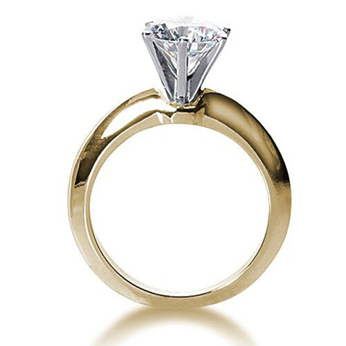 1.25 Ct Heart Cut Solitaire Engagement Wedding Ring Solid 18K Yellow Gold
