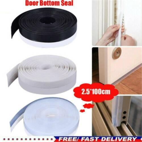 Door Seal Under Door Weather Stripping Sweep Bottom Seal Strip Draft Stopper @