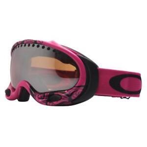 b349f254776 Oakley 01-835 A FRAME Scroll Lava Pink w  Black Lens Womens Snow Ski ...