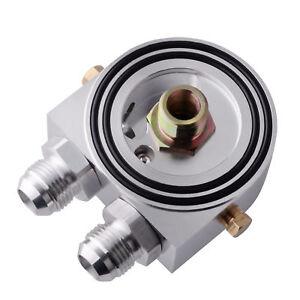10AN-Oil-Filter-Sandwich-Plate-Adapter-1-8-NPT-Oil-Cooler-Kit-M20-x-1-5-Silver