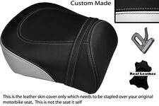 BLACK & WHITE CUSTOM FITS SUZUKI INTRUDER VL 1500 98-04 REAR SEAT COVER