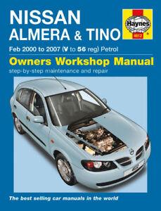haynes workshop repair manual nissan almera tino 00 07 699414004980 rh ebay co uk nissan almera haynes manual download nissan almera haynes manual download