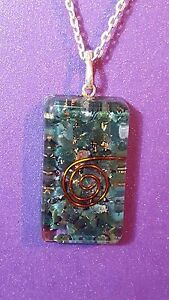 ORGONE Pendant Necklace Shaped Blood Stone Reiki pendan