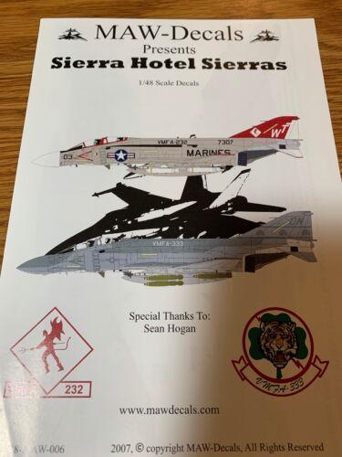 Maw Decals 48-MAW-006 Sierra Hotel Sierra