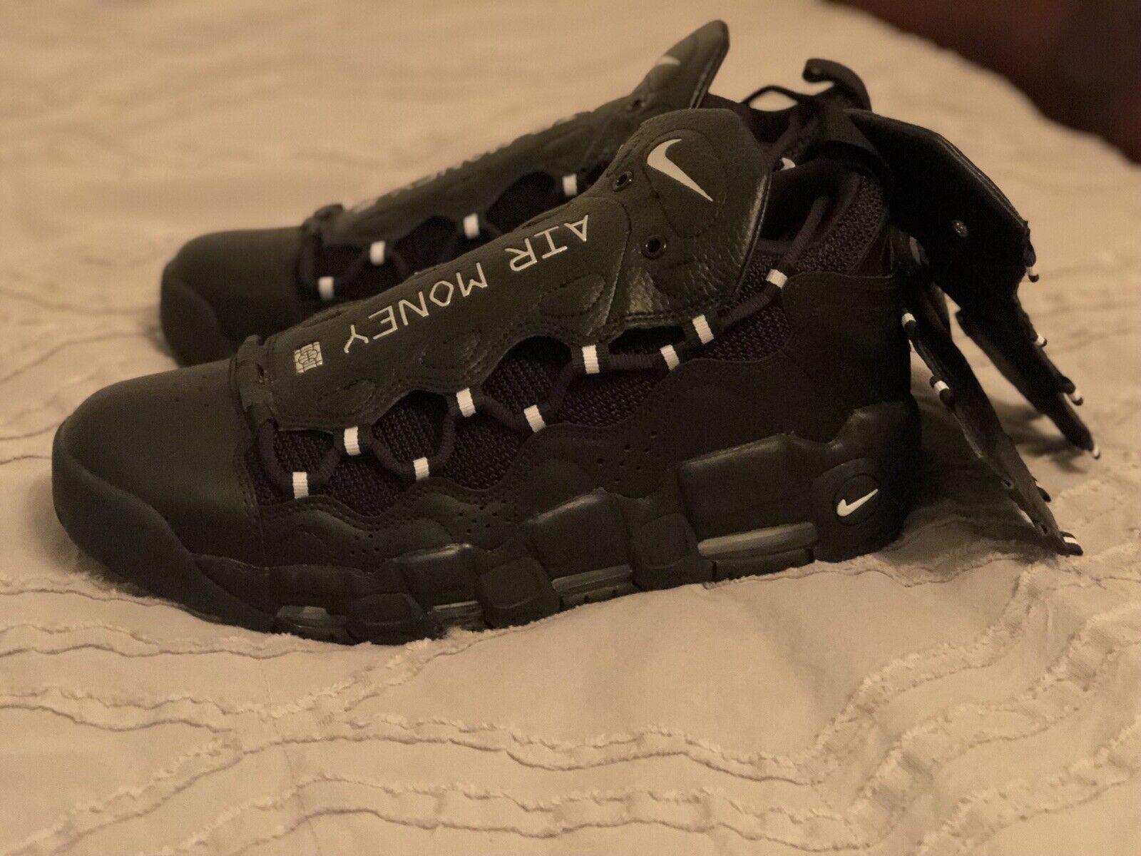 NEW  Nike Mens Air More Money Black Silver Uptempo Pippen AJ2998-002 Size 11