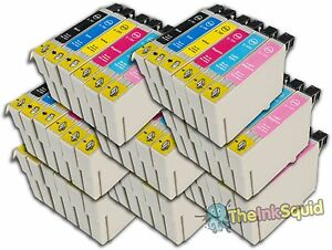 48 T0791-T0796 'Owl' Ink Cartridges Compatible Non-OEM with Epson Stylus PX710W