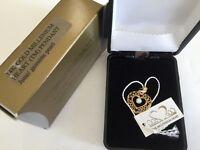 Avon 14k Yellow Gold Millennium Heart Pendant June Genuine Pearl