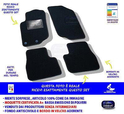 Tappeti moquette auto specifici Peugeot 207 2006/>  con bottoni fissaggio NO LOGO